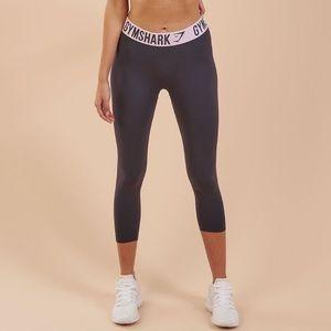 Gymshark Fit Leggings Gray Light Pink Waistband M